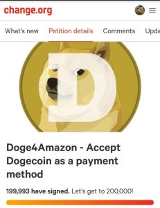 amazon plans to use dogecoin